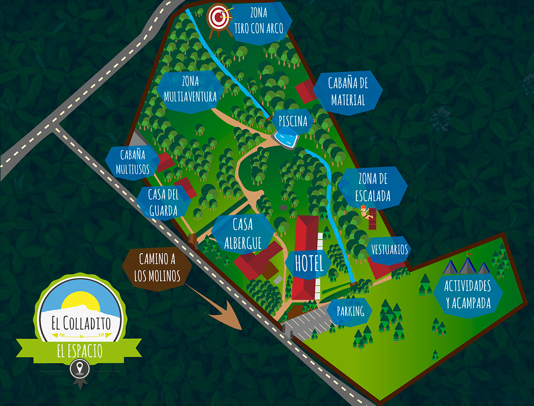 mapa de El Espacio El Colladito